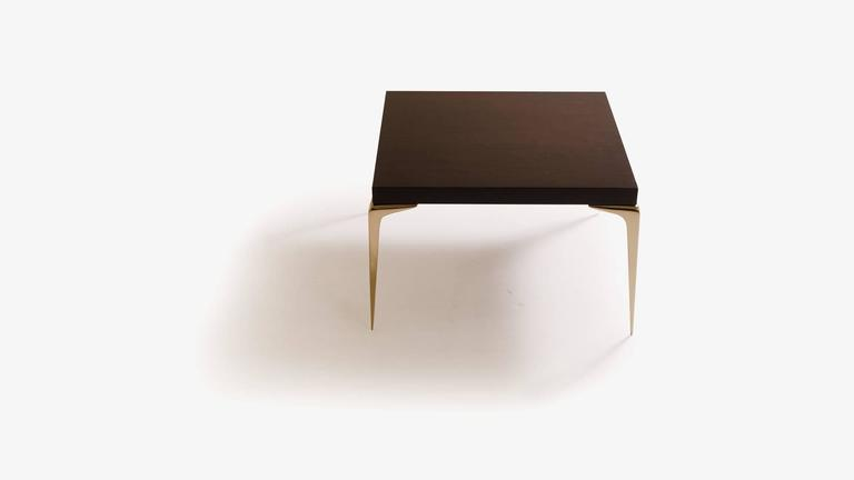 Ebonized Colette Brass Occasional Tables in Ebony by Montage, Pair For Sale