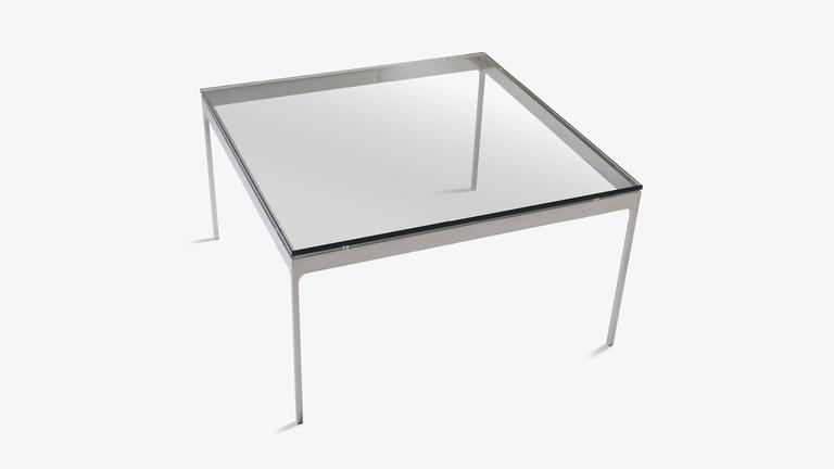 Minimalist Stainless Steel Cocktail Table by Nicos Zographos 3