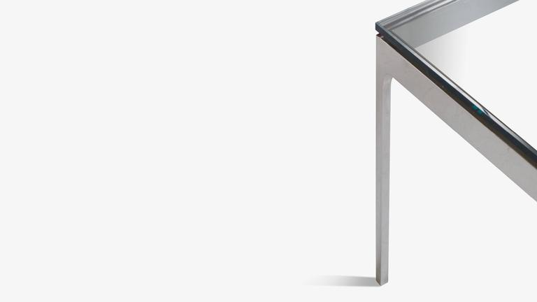 Minimalist Stainless Steel Cocktail Table by Nicos Zographos 4