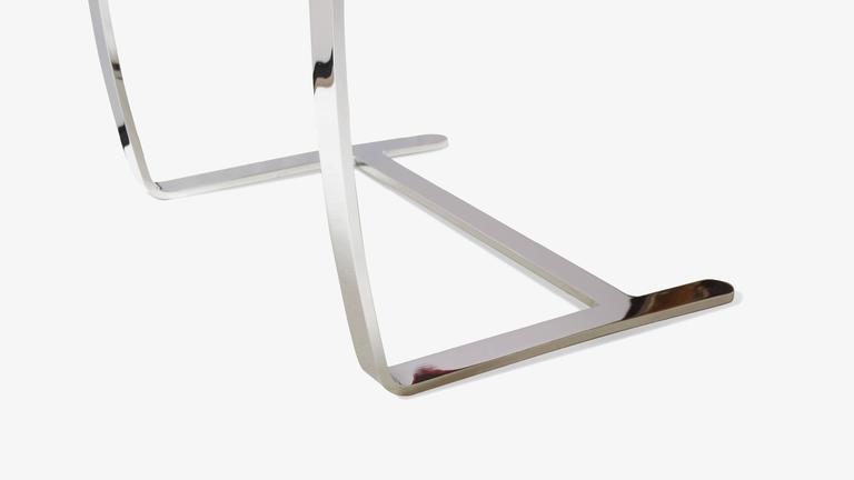 Mies van der Rohe for Knoll Brno Flat-Bar Chairs in Merlot Herringbone Wool, S/6 For Sale 1