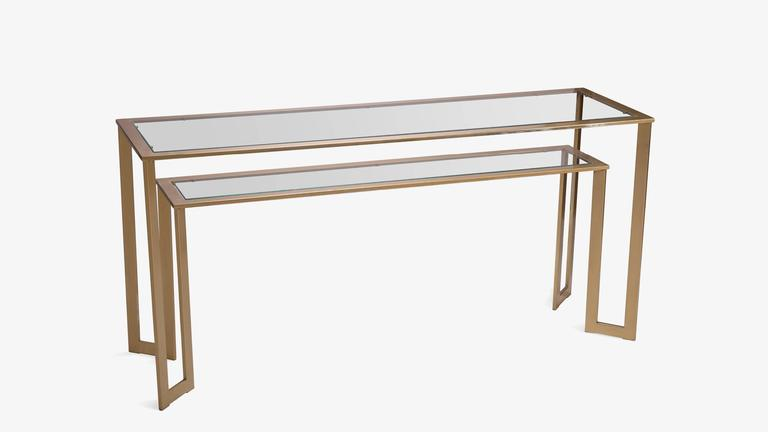 Gilt Two-Tier Geometric Console 2