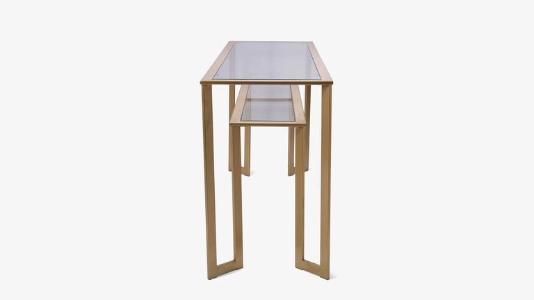 Gilt Two-Tier Geometric Console 3