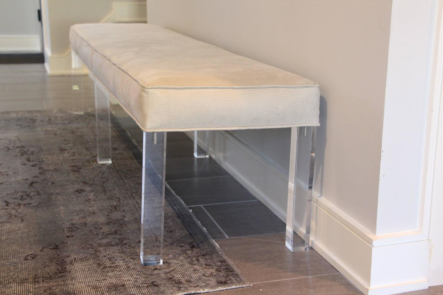 long lucite bench for sale at 1stdibs