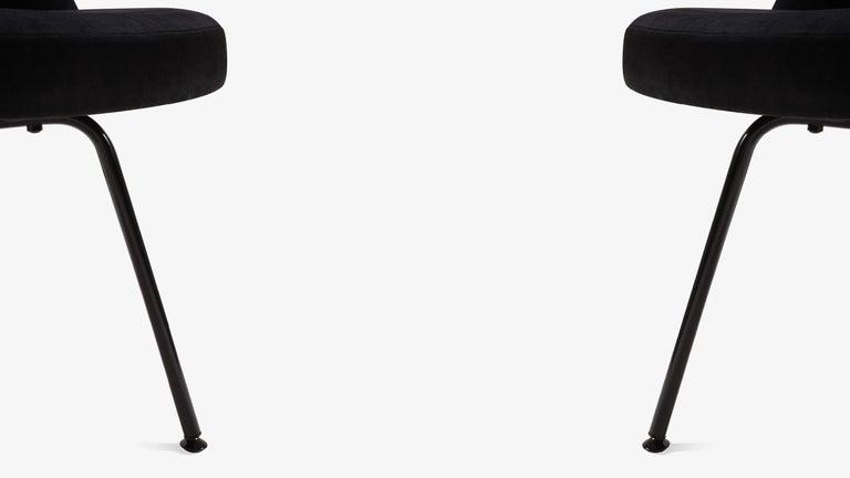 saarinen executive armless chairs black edition set of six for