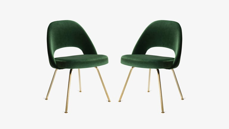 The next generation of Eero Saarinen's famed Executive Chairs have arrived. Edited by Montage, 100% authentic Eero Saarinen for Knoll Executive Chairs completely restored ground-up with an extra touch of gold.    Montage has been restoring Saarinen