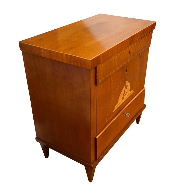 Marquetry Biedermeier Chest of Drawers For Sale