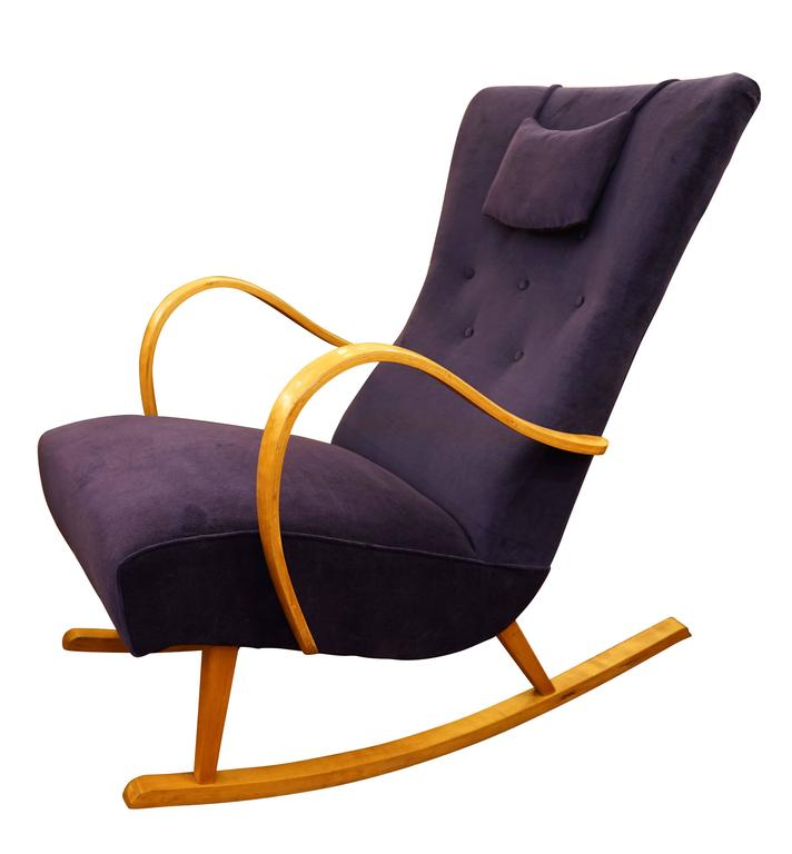 Swedish Art Deco Rocker In Excellent Condition For Sale In New York, NY
