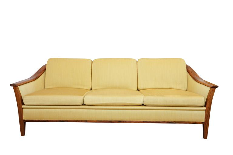 Swedish Mid-Century Modern Sofa and Armchairs Set For Sale