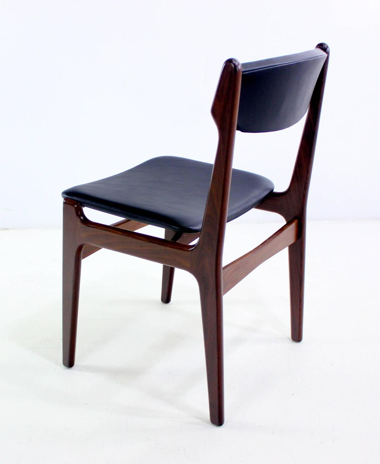 set of eight danish modern teak dining chairs for sale at 1stdibs