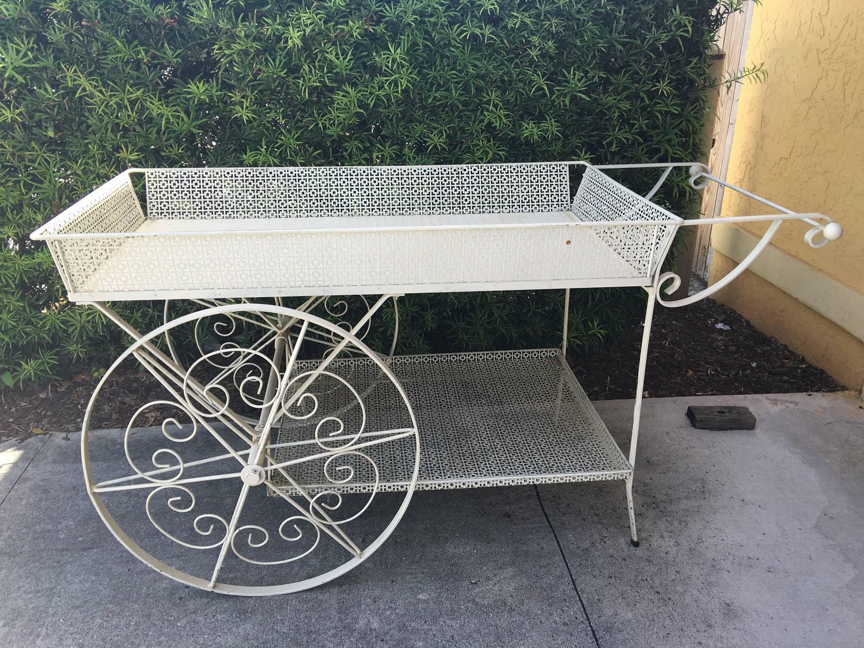 White Garden Flower Cart at 1stdibs