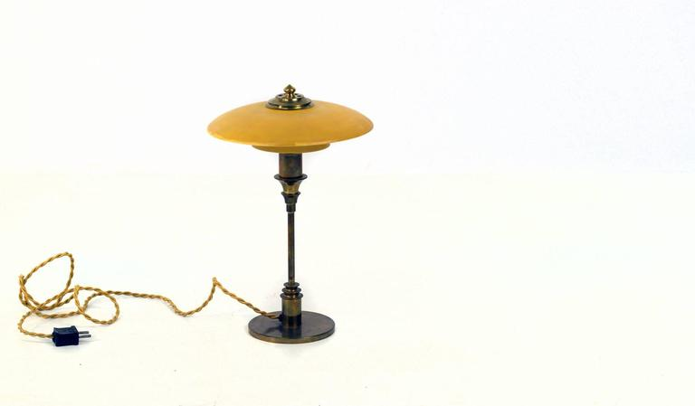 Mid-20th Century Very Rare Lyfa Table Lamp, 1930s For Sale