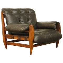 Rare Jean Gillon for Italma Wood Art Easy Lounge Chair