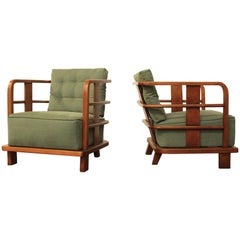Pair of Lounge Easy Chairs, Attributed to Jean Royere, France, 1930s
