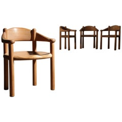 Set of Four or Six Sculptural Dining Room Chairs by Rainer Daumiller