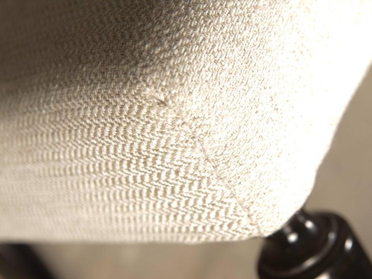 Ebonized Set of 6 Dining Chairs Attributed to Osvaldo Borsani For Sale