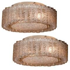 Pair of Large Doria Ceiling Lights