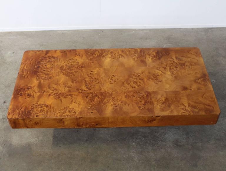 Rectangular Burl Wood French Coffee Table 3