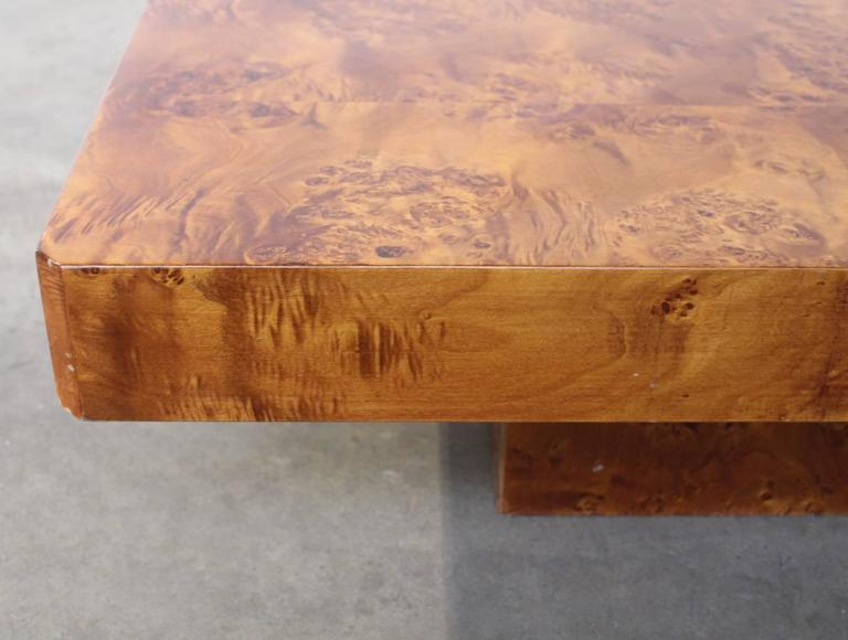 Rectangular Burl Wood French Coffee Table In Excellent Condition For Sale In Amsterdam, NL