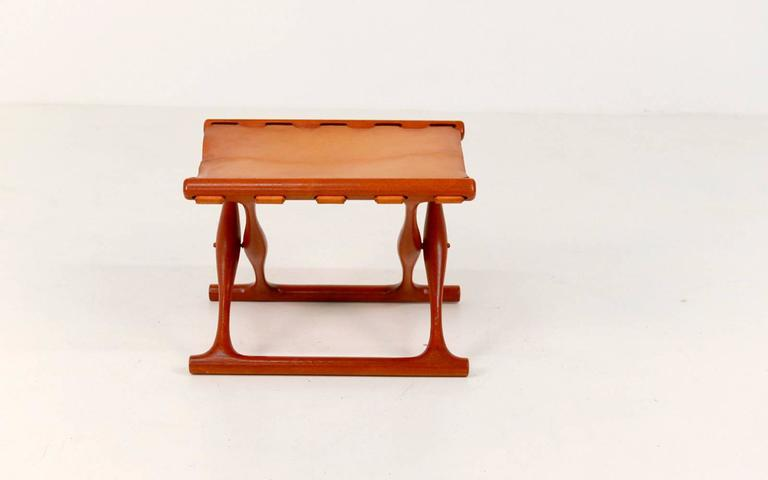 Gold Hill Folding Stool by Poul Hundevad For Sale 2