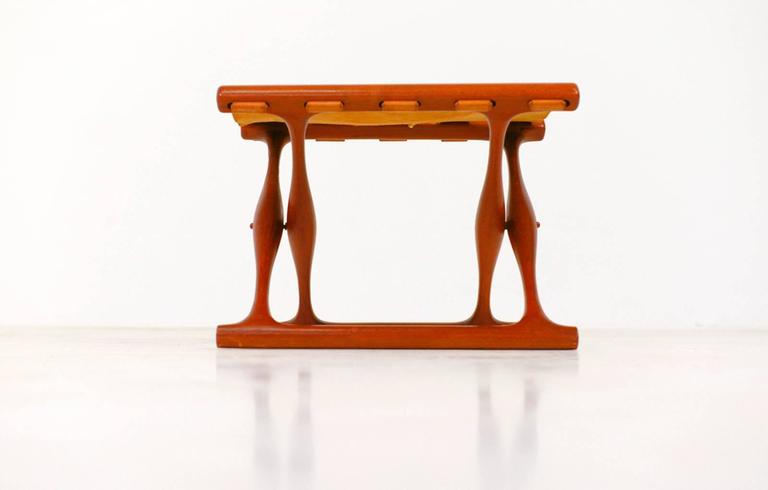 Danish Gold Hill Folding Stool by Poul Hundevad For Sale