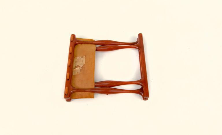 Mid-20th Century Gold Hill Folding Stool by Poul Hundevad For Sale