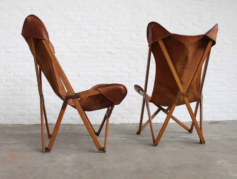 Exceptionnel An Extremely Rare Set Of The U0027Tripolinau0027 Folding Chair Designed By Joseph B.