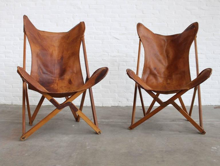 Mid-Century Modern Very Rare Original 'Tripolina' Chairs by Joseph Fendy for Paolo Viganò, Signed For Sale