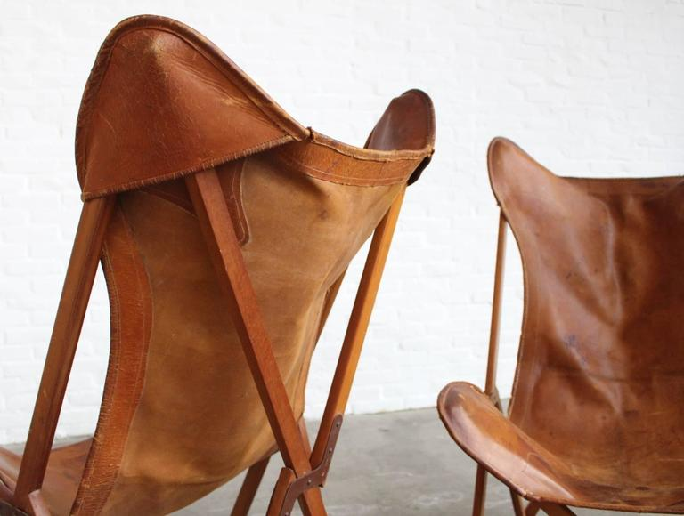 Italian Very Rare Original 'Tripolina' Chairs by Joseph Fendy for Paolo Viganò, Signed For Sale