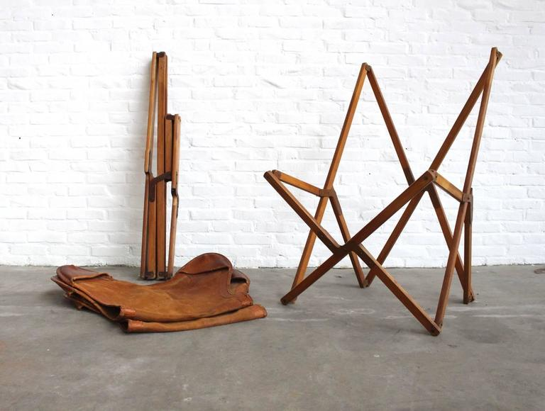 Very Rare Original 'Tripolina' Chairs by Joseph Fendy for Paolo Viganò, Signed For Sale 1