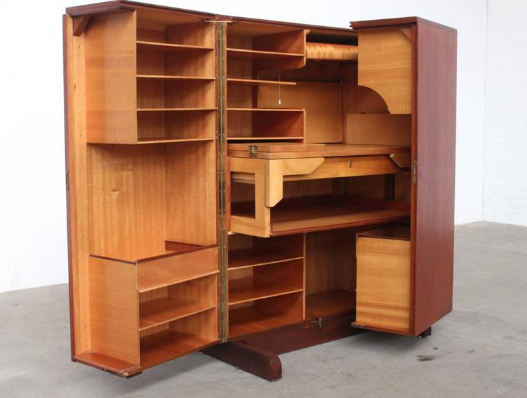 Amazing Completely (un)foldable Multi Functional Desk Secretary With  Countless Retractable Shelves, Drawers