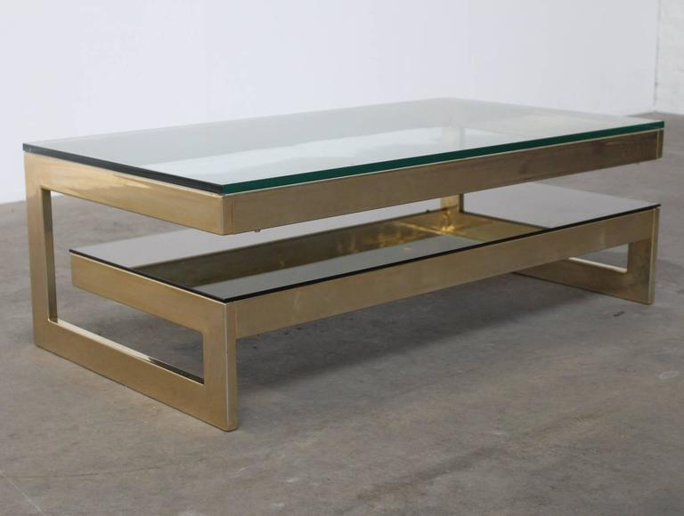 GShaped 23 Carat GoldPlated TwoLevel Coffee Table Maison