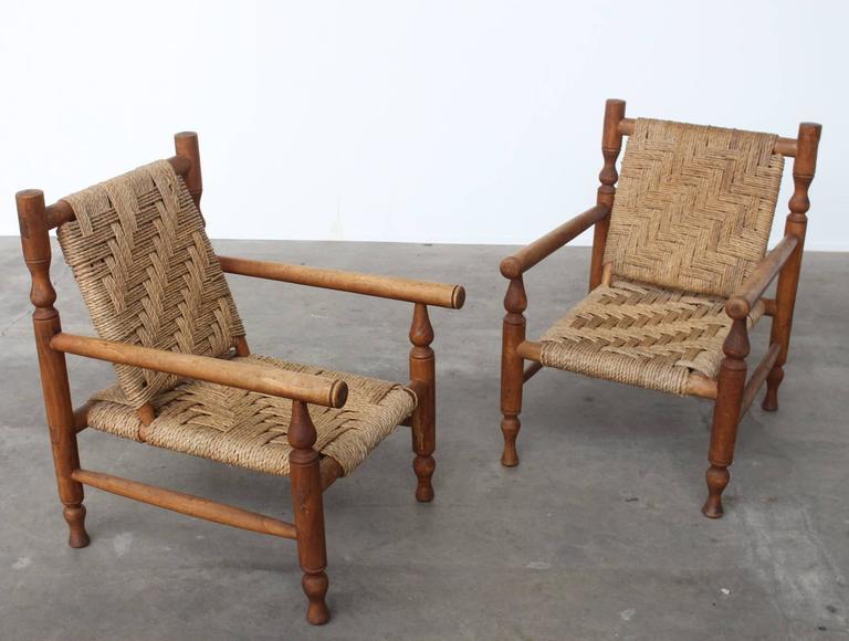 Cool Charlotte Perriand Style Sisal Rope Easy Chairs France Inzonedesignstudio Interior Chair Design Inzonedesignstudiocom