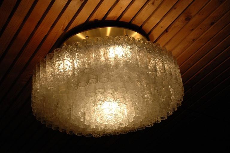 Huge Flush Mount Light Fixture by Doria Leuchten, Germany For Sale ...