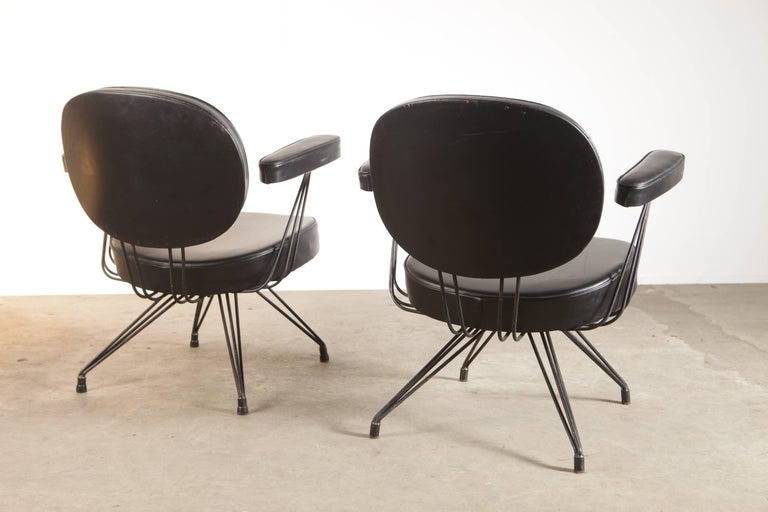 Rare Pair of Pierre Paulin Arm Chairs for Thonet In Excellent Condition For Sale In Amsterdam, NL