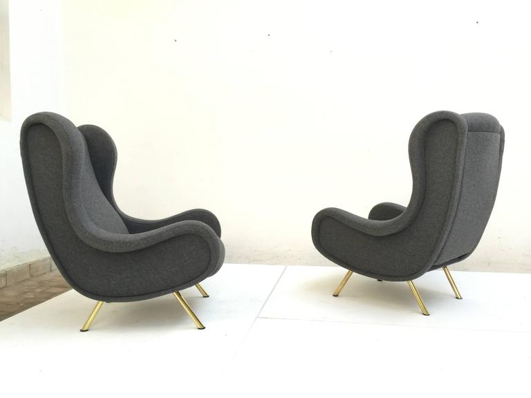 'Senior' Chairs by Marco Zanuso, 1951,very rare early examples with wood frames 6