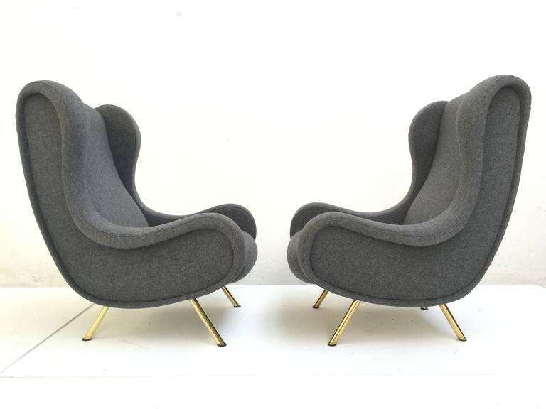 'Senior' Chairs by Marco Zanuso, 1951,very rare early examples with wood frames 2