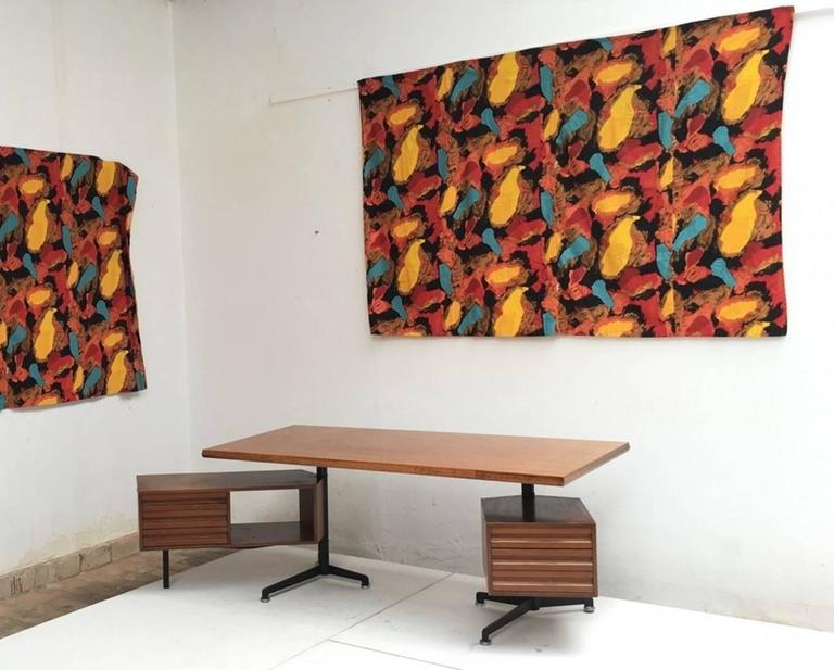 Pair of Karel Appel Curtains, 1963, Documented at Stedelijk Musem In Good Condition For Sale In bergen op zoom, NL