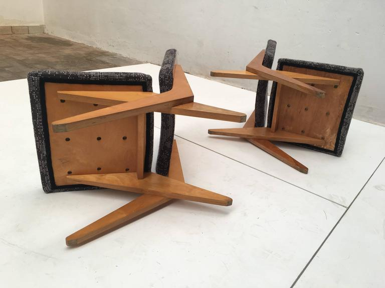 Stunning Pair of FB18 Scissor Chairs by Jan Van Grunsven for UMS Pastoe, 1955 For Sale 1