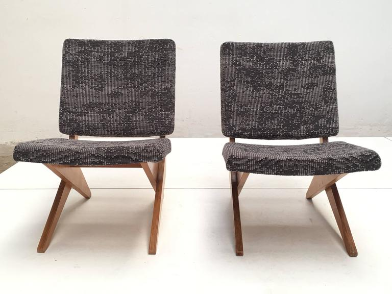 Mid-20th Century Stunning Pair of FB18 Scissor Chairs by Jan Van Grunsven for UMS Pastoe, 1955 For Sale