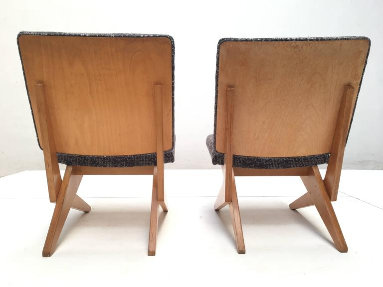 Mid-Century Modern Stunning Pair of FB18 Scissor Chairs by Jan Van Grunsven for UMS Pastoe, 1955 For Sale