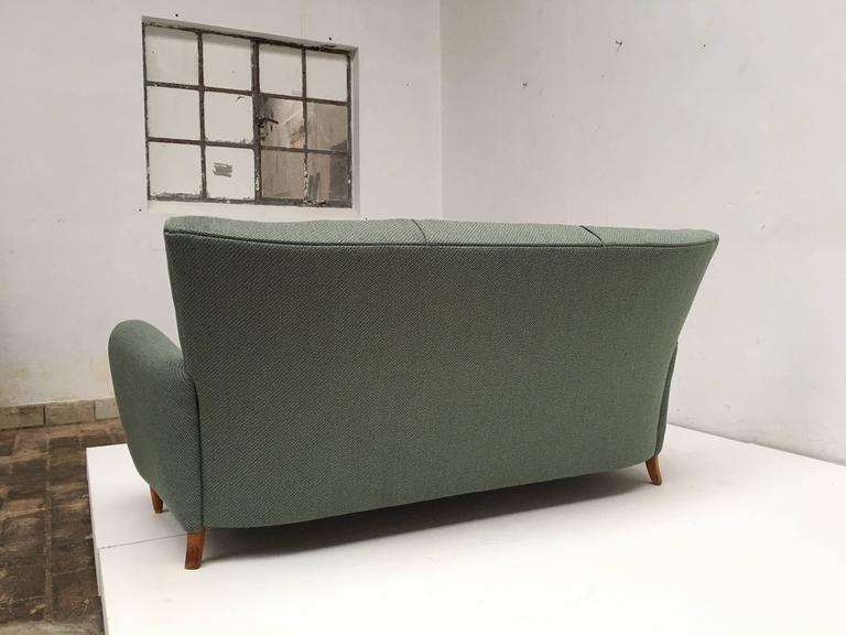 Mid-20th Century Rare Theo Ruth Three-Seat Sofa with New De Ploeg Upholstery, Artifort, 1955 For Sale