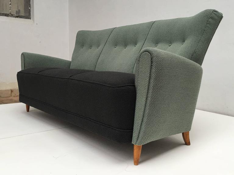 Mid-Century Modern Rare Theo Ruth Three-Seat Sofa with New De Ploeg Upholstery, Artifort, 1955 For Sale