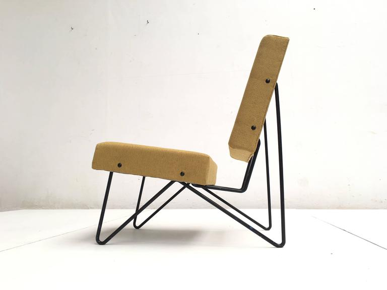 Dutch Modernist Cees Braakman FM03 Combex Lounge Chair for UMS Pastoe 1953 Restored For Sale