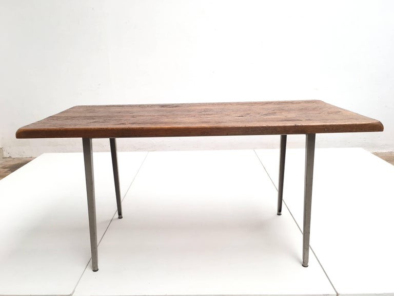 Friso Kramer 'Reform' Table or Desk with Reclaimed Rustic Oak Top 4
