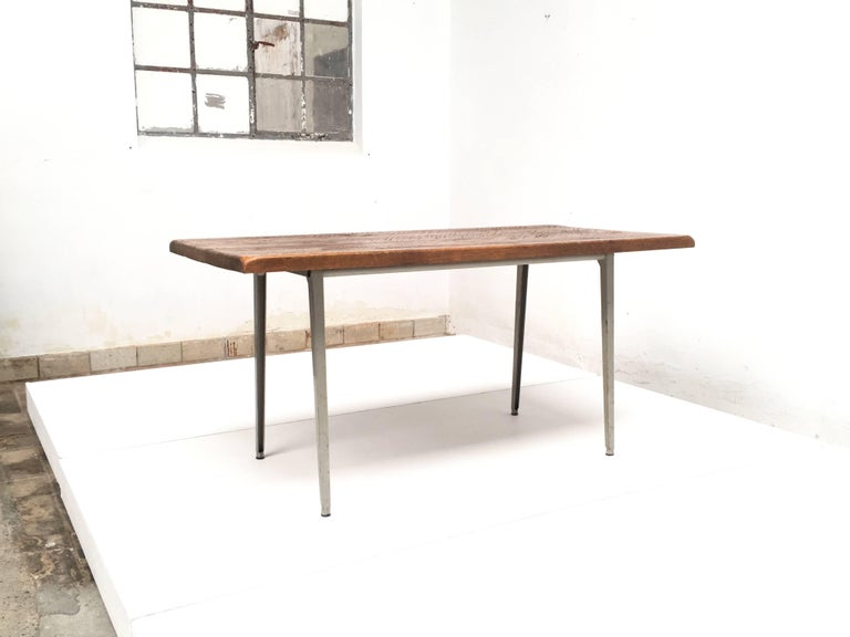 Friso Kramer 'Reform' Table or Desk with Reclaimed Rustic Oak Top 3