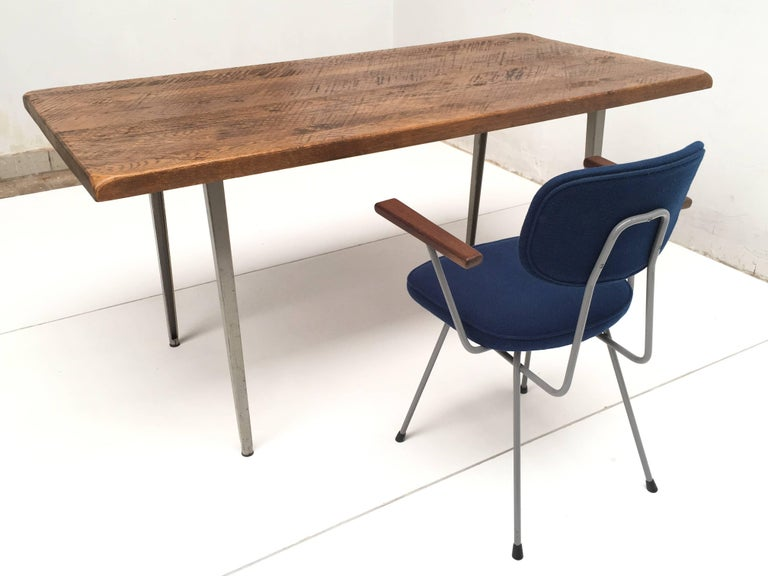 Friso Kramer 'Reform' Table or Desk with Reclaimed Rustic Oak Top 6