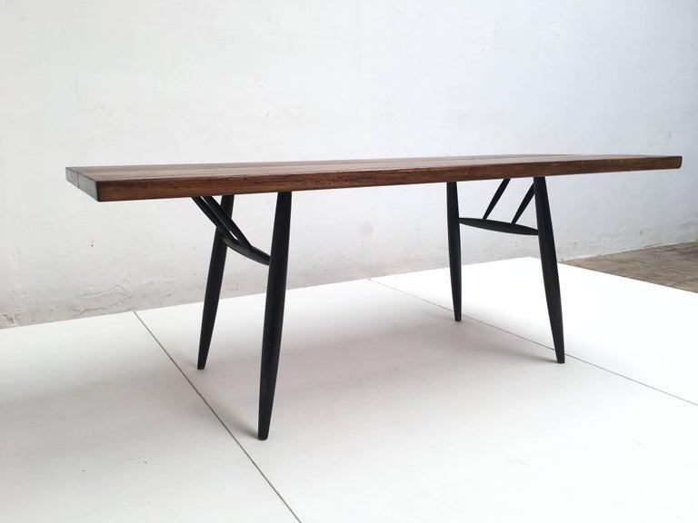 Finnish Large Ilmari Tapiovaara 'Pirkka' Dining Table Laukaan Puu, Finland, 1955 For Sale