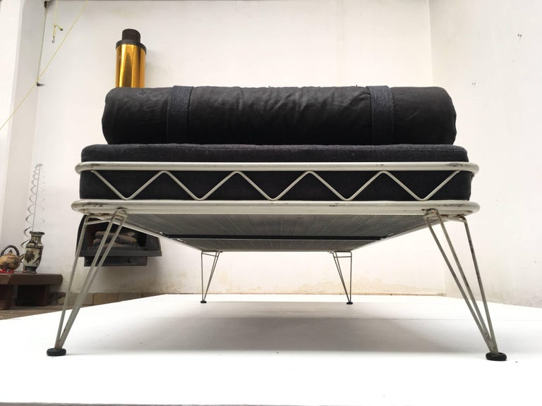 Mid-20th Century Daybed 'Arielle' by Dick Cordemeijer for Auping 1954, New Upholstery For Sale
