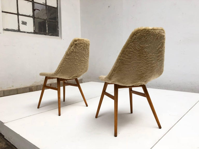 Pair of Side Chairs by Judit Burian & Erika Szek Hungary, circa 1959 For Sale 3