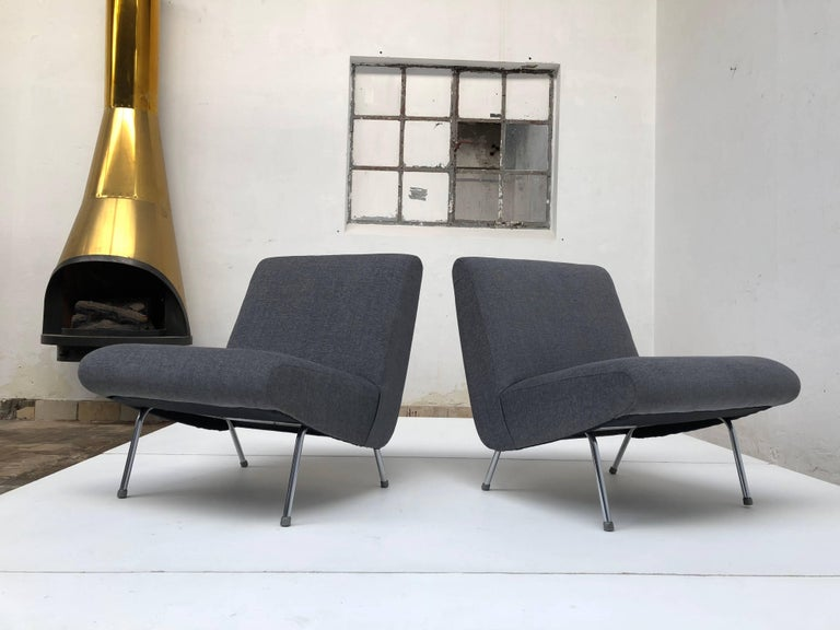 Rare set of Pierre Guariche lounge chairs for Meurop Belgium